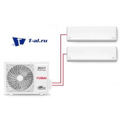 Мульти сплит-система FUNAI RAMI-SM25HP.D04/S *2 + RAMI-2OR50HP.D05/U