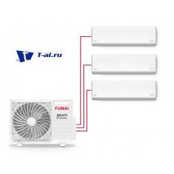 Мульти сплит-система FUNAI RAMI-SM25HP.D04/S * 2 + RAMI-SM35HP.D04/S + RAMI-3OR70HP.D05/U