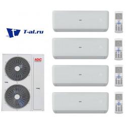 Мульти сплит-система IGC RAM4-X36UNH+ RAK-X09NH*4шт