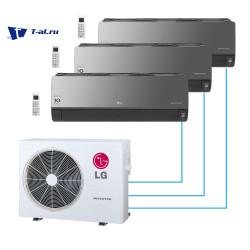 Мульти сплит-система LG MU3M19.UE4R0+ AM07BP.NSJR0*3шт