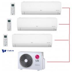 Мульти сплит-система LG MU3M19.UE4R0+ DM07RP.NSJR0*3шт