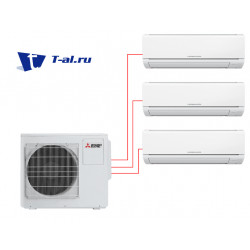Mitsubishi Electric MSZ-DM25VA*2шт + MSZ-DM35VA + MXZ-3DM50VA