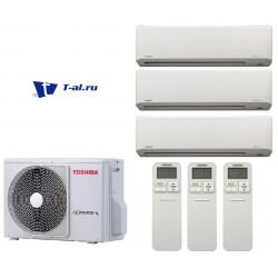 Мульти сплит-система Toshiba RAS-3M18S3AV-E+ RAS-B10N3KV2-E1*3шт