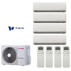Мульти сплит-система Toshiba RAS-4M27S3AV-E+ RAS-B10N3KV2-E1*4шт
