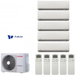 Мульти сплит-система Toshiba RAS-5M34S3AV-E+ RAS-B10N3KV2-E1*5шт