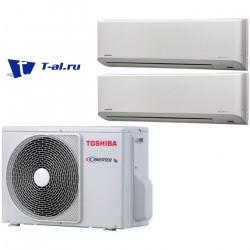 Мульти сплит-система Toshiba RAS-M18UAV-E + RAS-B10N3KV2-E1+ RAS-B13N3KV2-E1